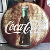 "Another before and after 1951 48"" Coca Cola button sign"