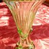"Uranium glass ""Rocket"" vase"