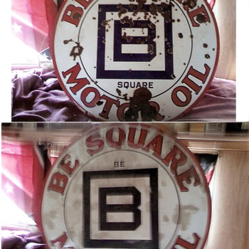 B square oil sign - Signs