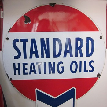 Standard Heating Oils Porcelain Sign