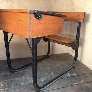 Vintage High-School Desk
