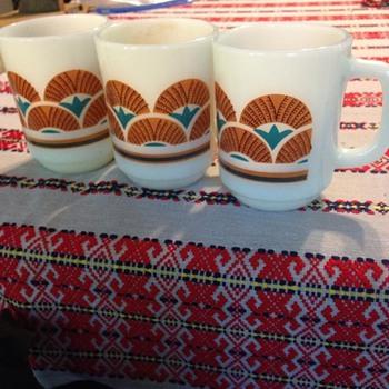 1960s Rare FireKing Mugs