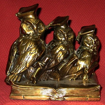 Jennings Brothers JB 1460 Scholarly Owls Bookends - Animals