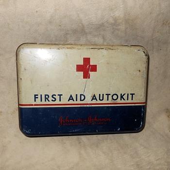 Vintage Johnson & Johnson First Aid Auto Kit - Advertising