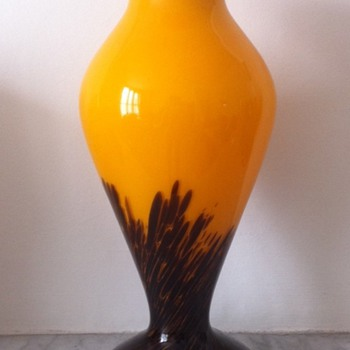 Tango baluster vase - Art Glass