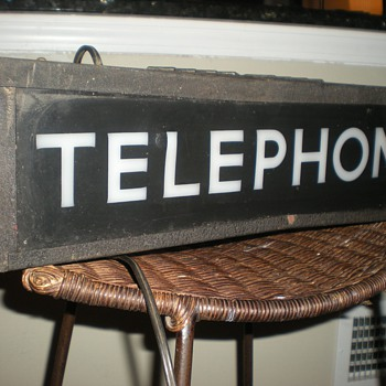 Antique Bell Phone Booth Illuminated Sign