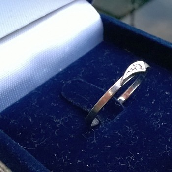 You Can Almost See It--->14K/585 White Gold & Diamond Promise Ring Thrift Shop Find $1.00