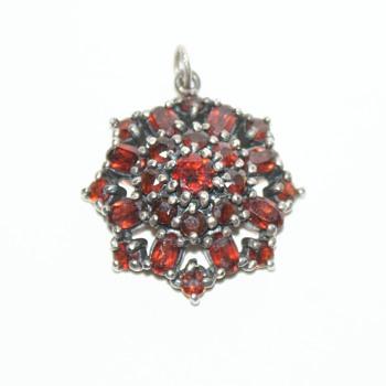 Vintage Garnet Pendant - Fine Jewelry
