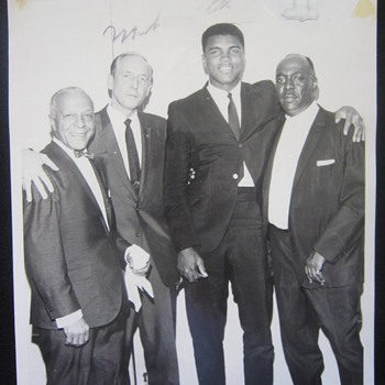 1960's Autographed Muhammad Ali Cassius Clay Photograph -- Who is he with? Where is he? - Photographs