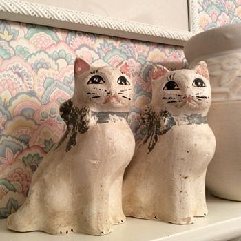 Chalkware Cats - Animals