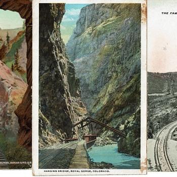 Six Railroad Postcards - Postcards