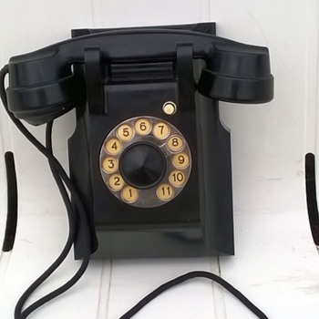 1930s Bakelite Ericsson Holland Intercom Wall Phone Thrift Shop Find 9,50 Euro ($10.08) - Telephones