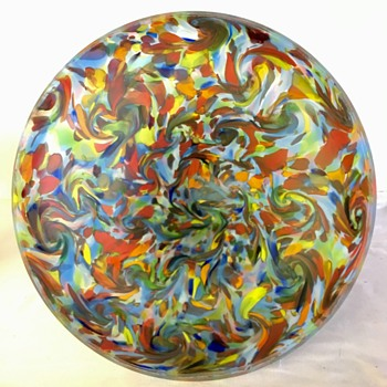 Ruckl - Confetti Decor (tornado pattern) - Art Glass