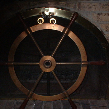 USN Ships Wheel - Military and Wartime