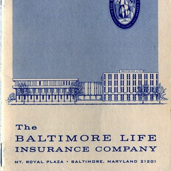 Vintage Baltimore Life Insurance Premium Receipt Book