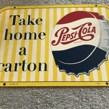 Metal pop rack sign  - Advertising