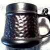Prinknash Abbey Gloucester England Mug / Luster Ware Grey Pewter Finish/Unknown Age