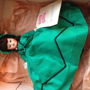 Madame Alexander Doll - Scarlett in Green Dress