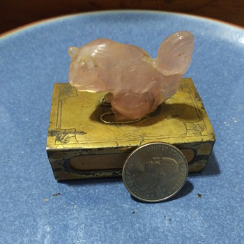 Art Deco Pink Squirrel Spring Box??????? - Animals