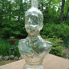 Figural glass bottle or decanter Who is this man?