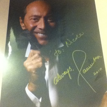 Signed Paul Anka Picture - Music Memorabilia