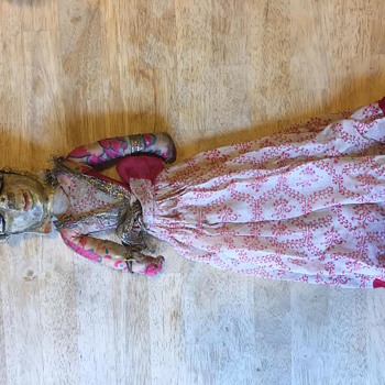 Hand Carved Hindu Doll, Puppet ??? Folk Art - Dolls