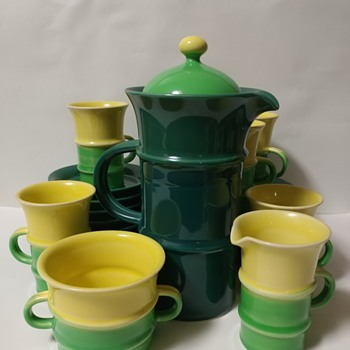 Mystery Rosenthal Studio Line Bjørn Wiinblad Coffee Service - China and Dinnerware