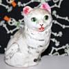 White chalkware cat?