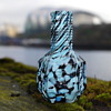 SOWERBY GLASS VASE WITH TURQUOISE SPLATTER RARE