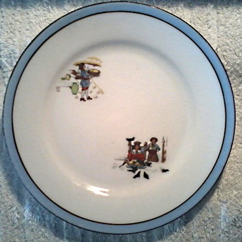 "Noritake ""Child's Nursery Rhyme Plate"" / Simple Simon and Old King Cole Design/ Circa 1920's-30's - China and Dinnerware"