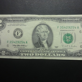 A -1995 TWO DOLLAR BILL. - US Paper Money