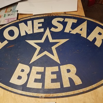 Lone star beer sign - Signs