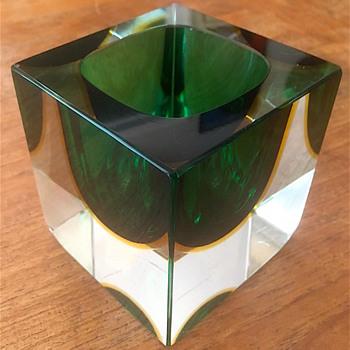 1960s Murano Somerso Bowl - Art Glass