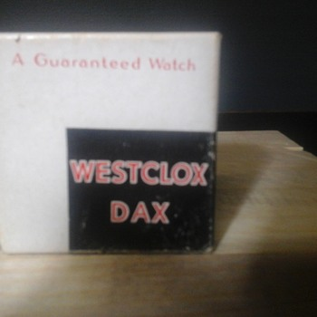 Westclox Dax Pocket Watch Box - Pocket Watches
