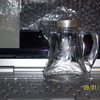 Heisey syrup jug 100 years old - Victorian Era