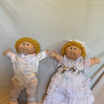 Vintage Cabbage Patch Kids TSUKUDA Japan Bride And Groom dolls HTF RARE  - Dolls