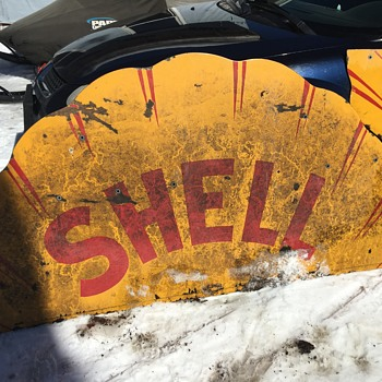 Vintage Shell Gasoline Sign. 1929? - Petroliana