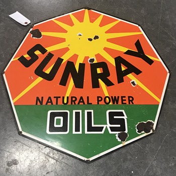 Sunray oils DX sign  - Petroliana