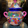Very Colorful Mexican Covered Jar