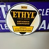 EHTYL porcelain gasoline additive gas pump sign
