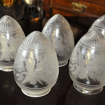 Antique glass lamp shades Saint Louis - Lamps