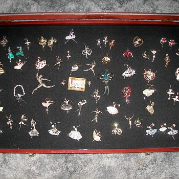 My vintage ballerina pin collection - Costume Jewelry
