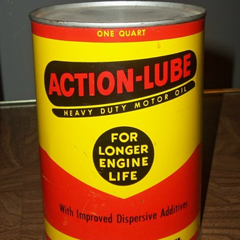 My favorite oil cans! WHITE STAR REFINING and ACTION LUBE - Petroliana