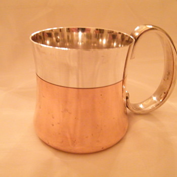Georg Jensen Tankard  - Copper/Silver ? Value? - Silver