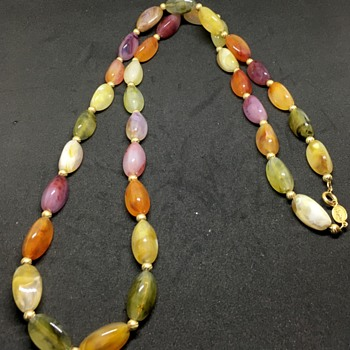 Napier stone necklace  - Costume Jewelry