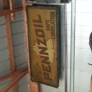 Pennzoil sign lead paint