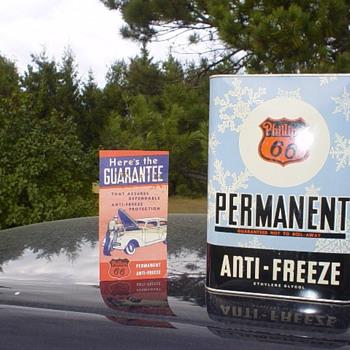 Phillips 66 Antifreeze tin can - Petroliana