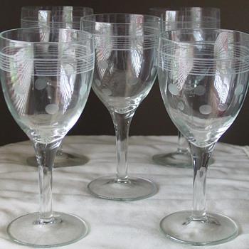 """Soap Powder""? Wine/Water Goblets - Glassware"