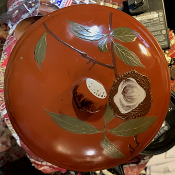 Large Covered Bowl - Japanese Laquerware - Asian