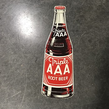 Triple  AAA  Root Beer  soda  bottle sign  - Signs